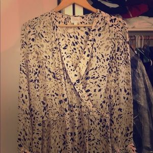 Parker silk leopard dress
